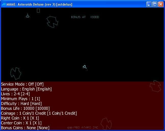 M A M E  - Asteroids Deluxe [Rev 2] - Points - 14,590