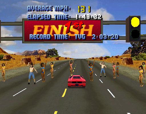M A M E  - Cruis'n USA [Rev L4 1] - US 101 [Fastest Race] - 01:49 32