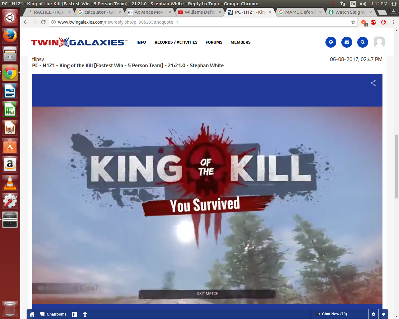 PC - H1Z1 - King of the Kill [Fastest Win - 5 Person Team] - 21:21 0