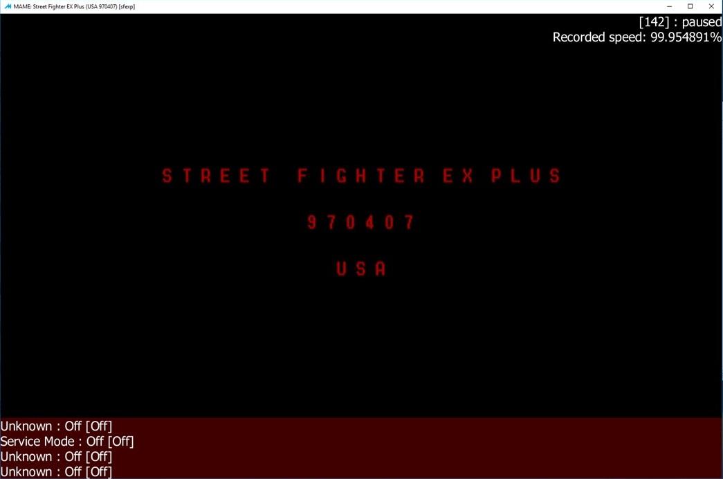 M A M E  - Street Fighter EX Plus [USA 970407] - Points [Tournament