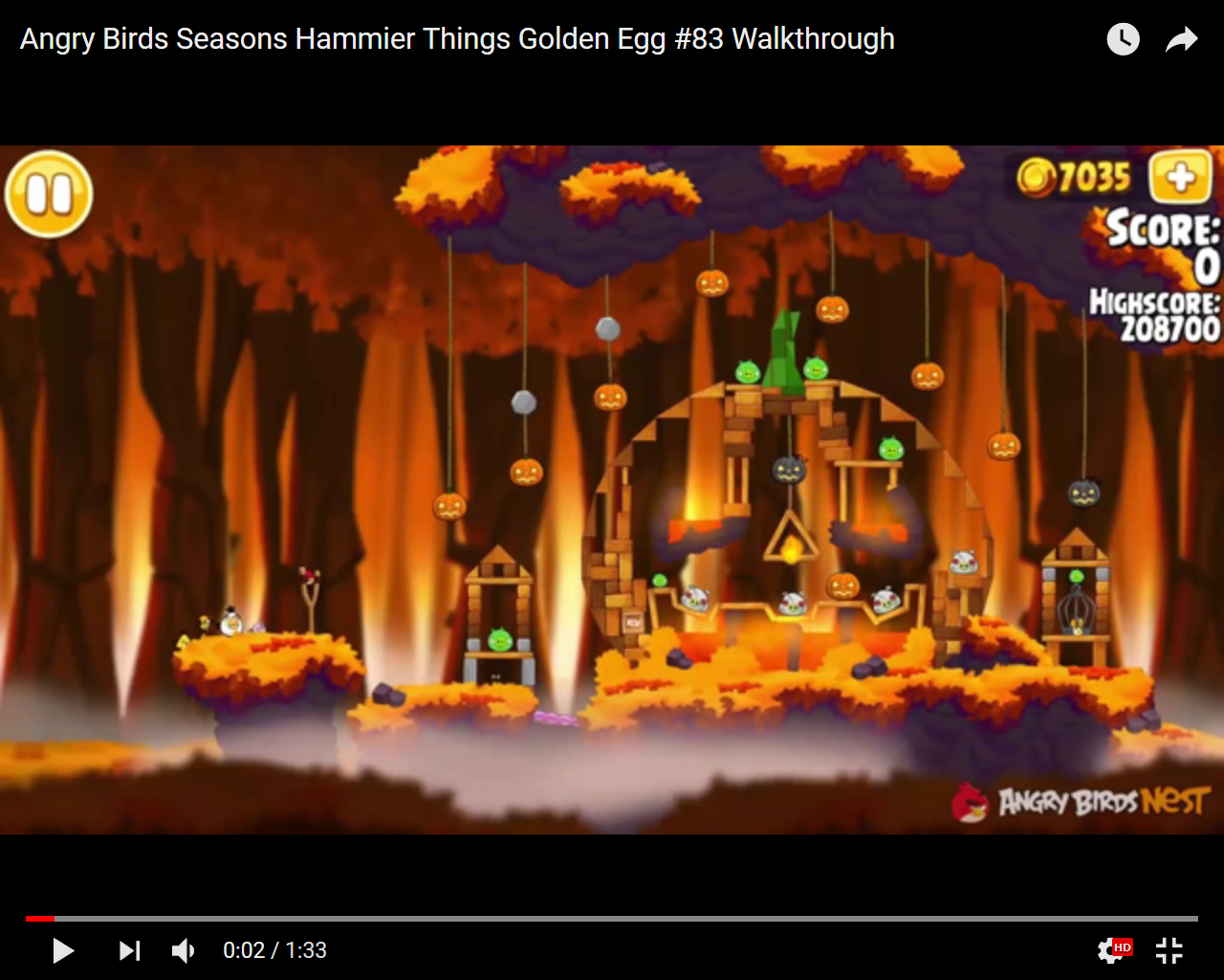 Angry Birds Hammier Things android - angry birds seasons - hammier things - 3 stars