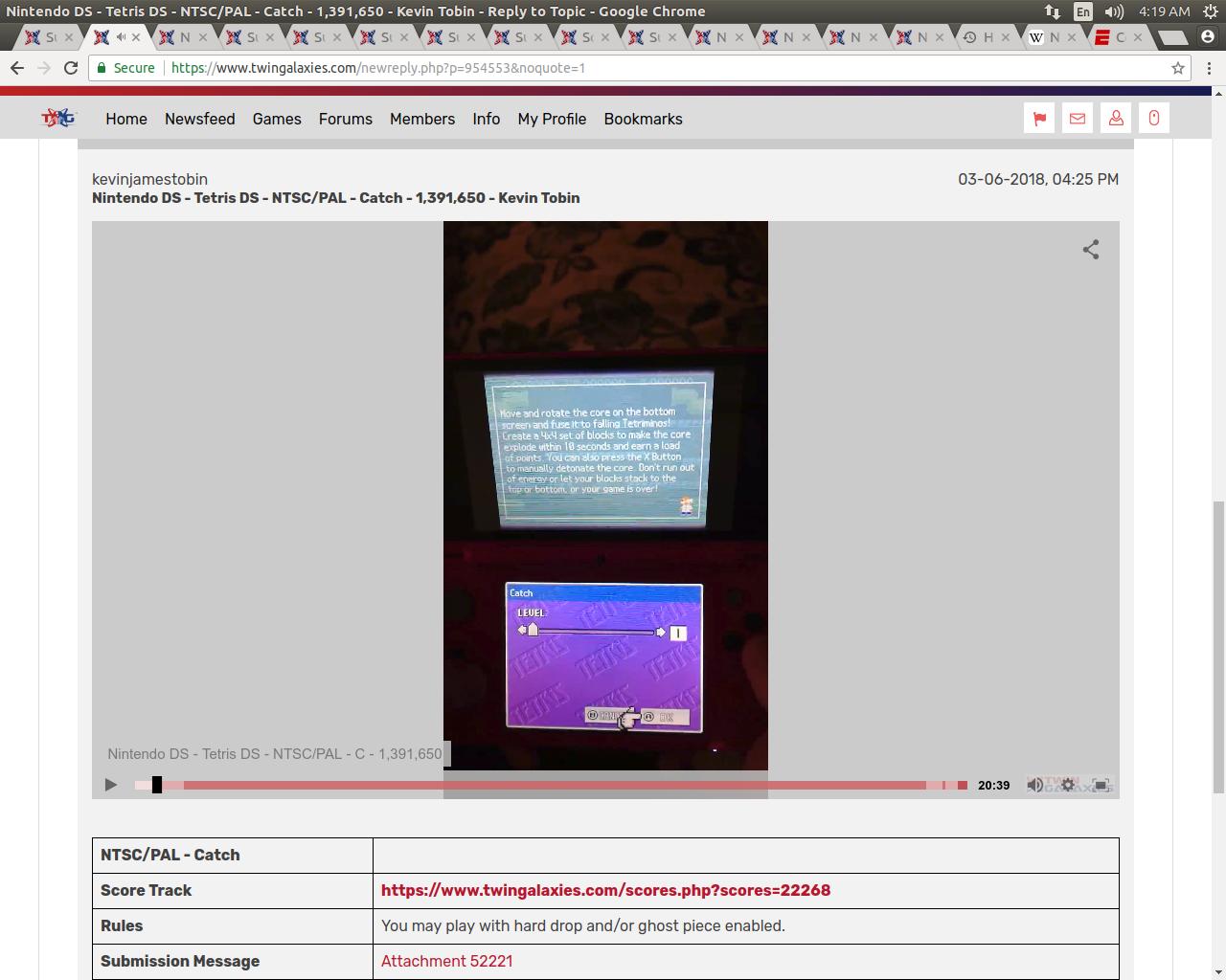 Nintendo DS - Tetris DS - NTSC/PAL - Catch - 1,391,650