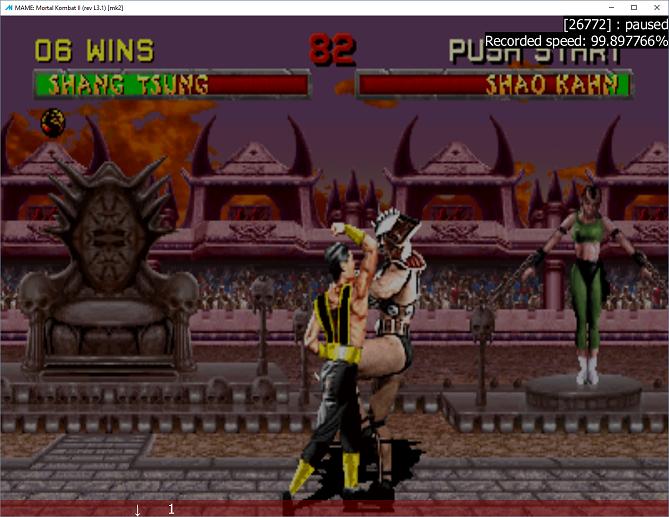 M A M E  - Mortal Kombat II [rev L3 1] - Fastest Completion