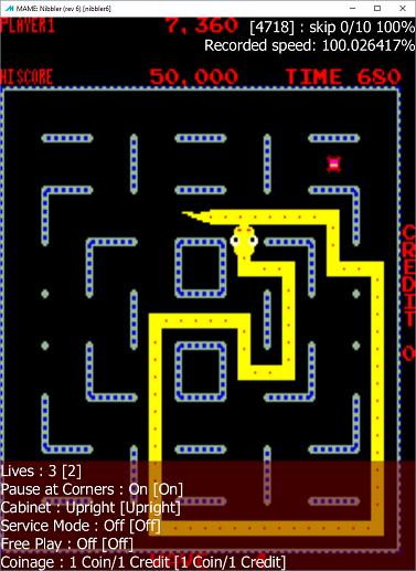 M A M E  - Nibbler [set 1] - Points [Tournament Settings - 5